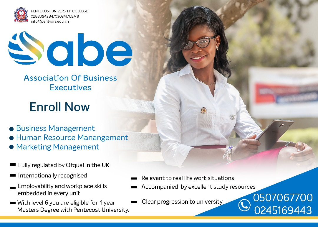 Association of Business Executives (ABE) - Diploma Level 4, 5 and 6 -  Pentecost University College